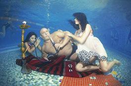 Кальян под водой - миниатюра