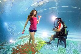 Фитнес под водой - миниатюра